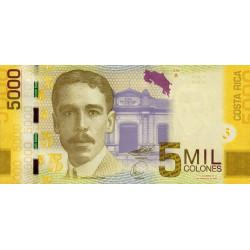 Costa Rica - Pick 276 - 5'000 colones - 02/09/2009 - Etat : NEUF