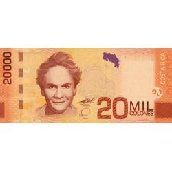Costa Rica - Pick 278 - 20'000 colones - 02/09/2009 - Etat : NEUF