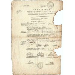 Assignat - Document concernant le graveur GATTEAUX - 4 germinal an 3