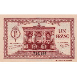 Amiens - Pirot 7-56 - 1 franc - 1922 - Etat : SPL