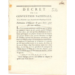 Assignat - Décret du 21 novembre 1792