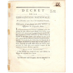 Assignat - Décret du 14 décembre 1792