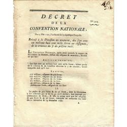 Assignat - Décret du 23 mai 1793