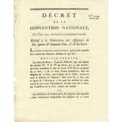 Assignat - Décret du 6 juin 1793