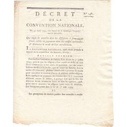 Assignat - Décret du 30 août 1793