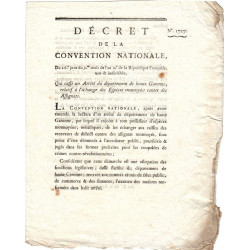 Assignat - Décret du 17 octobre 1793