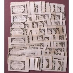 Assignat 46a - 5 livres - Lot de 100 signatures différentes - Etat : TTB à NEUF