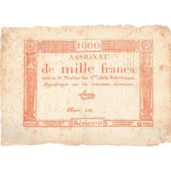Assignat 50a - 1000 francs - 18 nivôse an 3 - Etat : TB+