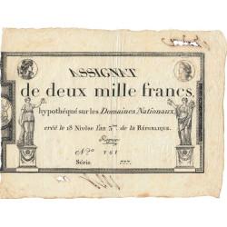 Assignat 51a - 2000 francs - 18 nivôse an 3 - Etat : SUP