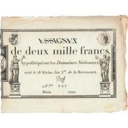 Assignat 51a - 2000 francs - 18 nivôse an 3 - Etat : TTB+