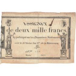 Assignat 51a - 2000 francs - 18 nivôse an 3 - Etat : TB+