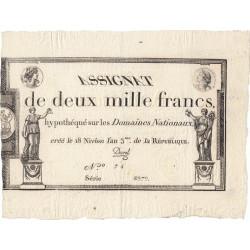 Assignat 51a - 2000 francs - 18 nivôse an 3 - Etat : SUP+