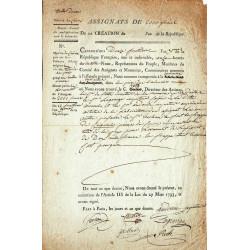 Assignat - Fabrication des matrices en cuivre pour l'assignat de 2000 francs - 1795