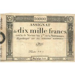Assignat 52a - 10000 francs - 18 nivôse an 3 - Etat : TTB