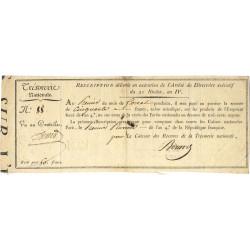 Rescription 54a - 50 francs - 21 nivôse an 4 - Etat : TTB