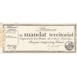 Promesse de mandat 59a - 25 francs - 28 ventôse an 4 - Etat : SUP+