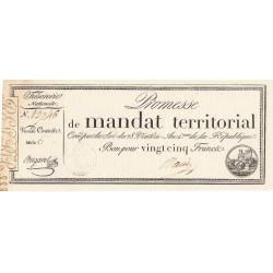 Promesse de mandat 59b - 25 francs - 28 ventôse an 4 - Etat : SPL