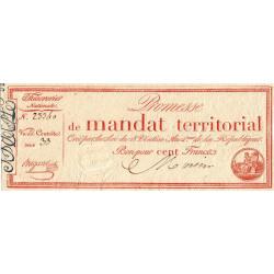 Promesse de mandat 60b - 100 francs - 28 ventôse an 4 - Etat : SPL+