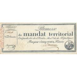 Promesse de mandat 62a - 500 francs - 28 ventôse an 4 - Etat : SUP