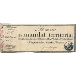 Promesse de mandat 62b - 500 francs - 28 ventôse an 4 - Etat : TB+