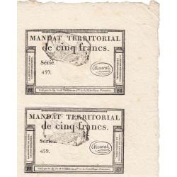 Mandat territorial 63b - 5 francs - 28 ventôse an 4 - Etat : SUP+