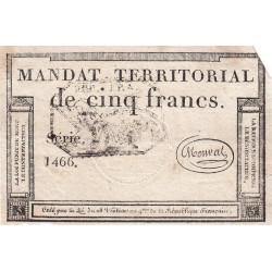 Mandat territorial 63b - 5 francs - 28 ventôse an 4 - Etat : TTB