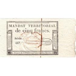 Mandat territorial 63c - 5 francs - 28 ventôse an 4 - Etat : SPL