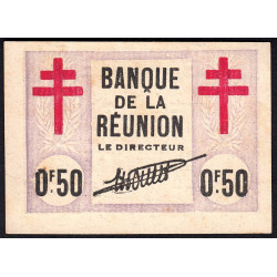 La Réunion - Pick 33 - 0,50 franc - 12/08/1943 - Etat : SUP+ à SPL