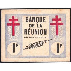 La Réunion - Pick 34 - 1 franc - 12/08/1943 - Etat : SUP+ à SPL