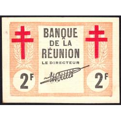 La Réunion - Pick 35 - 2 francs - 12/08/1943 - Etat : pr.NEUF