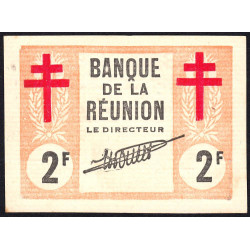 La Réunion - Pick 35 - 2 francs - 1943 - Etat : pr.NEUF