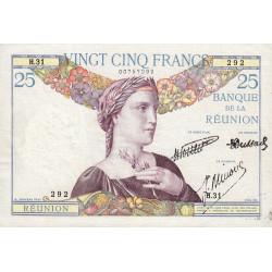 La Réunion - Pick 23-3 - 25 francs - 1940 - Etat : SUP