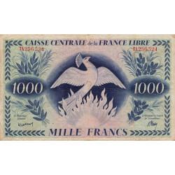 La Réunion - Pick 37 - 1'000 francs France Libre - Rarissime - 02/12/1941 - Etat : TB+