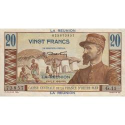 La Réunion - Pick 43 - 20 francs France Outre-Mer - 1947 - Etat : SPL
