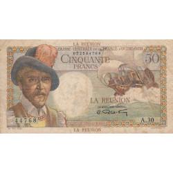 La Réunion - Pick 44 - 50 francs France Outre-Mer - 1947 - Etat : TB+