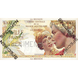 La Réunion - Pick 47S - 1'000 francs - 1947 - Spécimen - Etat : pr.NEUF