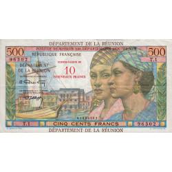 La Réunion - Pick 54b - 10 nouveaux francs sur 500 francs - 1971 - Etat : TTB+ à SUP