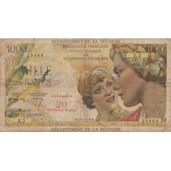 La Réunion - Pick 55a - 20 nouveaux francs sur 1000 francs - 1967 - Etat : TB-