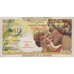 La Réunion - Pick 55b - 20 nouveaux francs sur 1000 francs - 1971 - Etat : TTB-