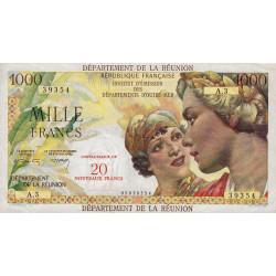 La Réunion - Pick 55b - 20 nouveaux francs sur 1000 francs - 1971 - Etat : SUP
