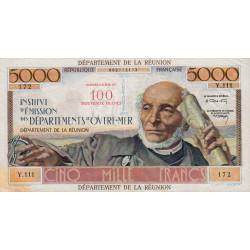 La Réunion - Pick 56b - 50 nouveaux francs sur 5000 francs - 1971 - Etat : TTB+