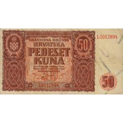 Croatie - Pick 1 - 50 kuna - 21/05/1941 - Etat : TTB