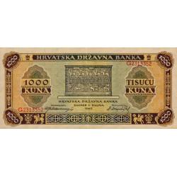 Croatie - Pick 12 - 1'000 kuna - 1943 - Etat : SUP