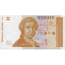 Croatie - Pick 16 - 1 dinar - 08/10/1991 - Etat : NEUF