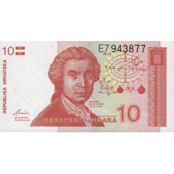 Croatie - Pick 18 - 10 dinars - 08/10/1991 - Etat : NEUF