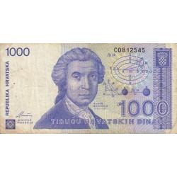 Croatie - Pick 22 - 1'000 dinars - 08/10/1991 - Etat : TB