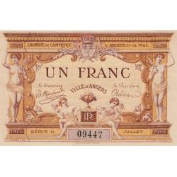 Angers (Maine-et-Loire) - Pirot 8-1 - 1 franc - Série D - 07/1915 - Etat : SPL
