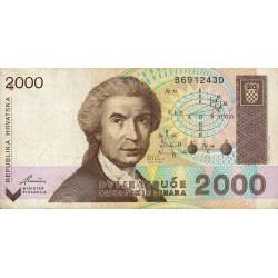 Croatie - Pick 23 - 2'000 dinars - 15/01/1992 - Etat : TB+