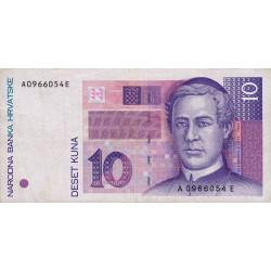 Croatie - Pick 29 - 10 kuna - 31/10//1993 - Etat : TTB