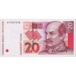 Croatie - Pick 30 - 20 kuna - 1993 - Etat : NEUF